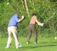 golfabschlag mit driver